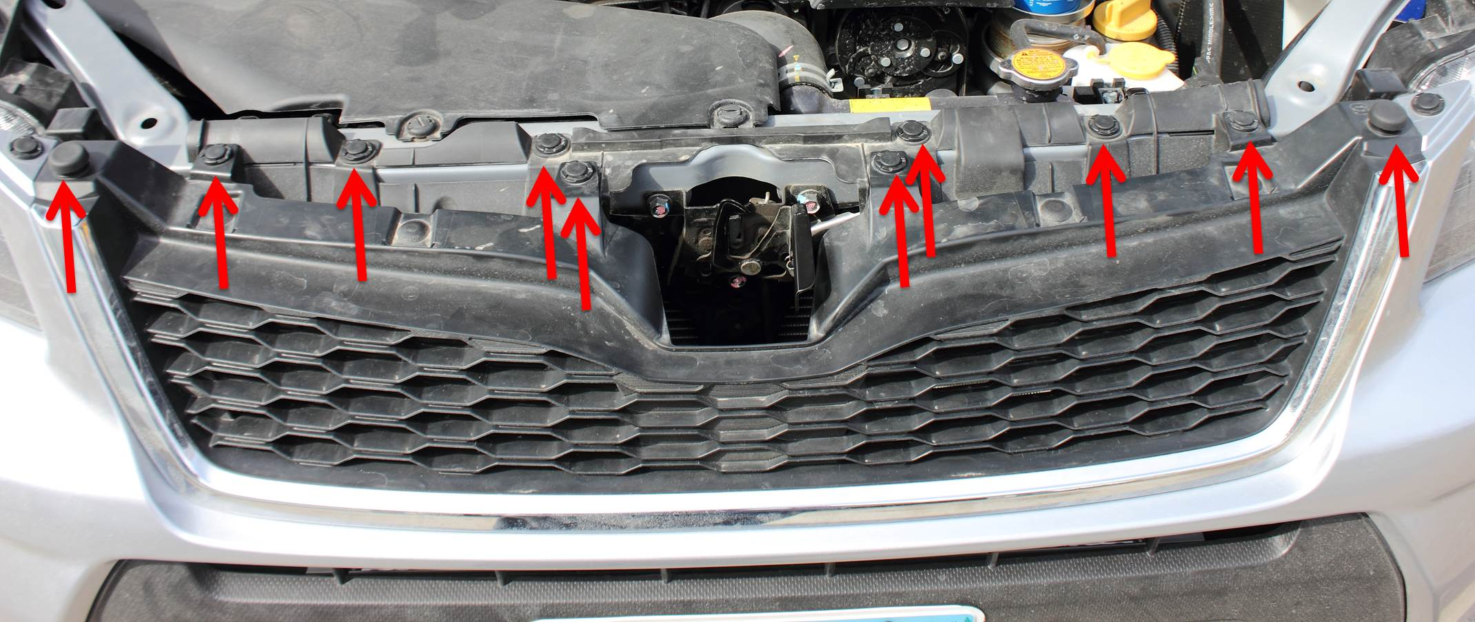 How To Remove The Grille On A 2014 Or Newer Subaru Forester
