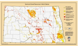 Gravel and Sand Map of North Dakota