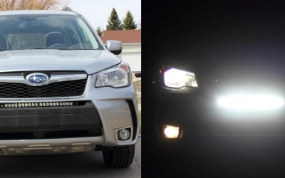 How to Install a LED light bar behind the Grille of a 2014 or Newer Subaru Forester