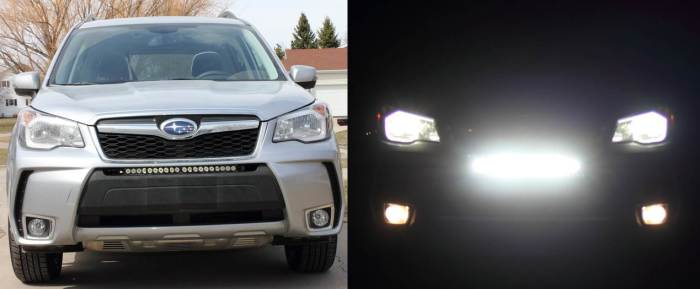 2014+ Forester With LED Light bar Offraod Lights
