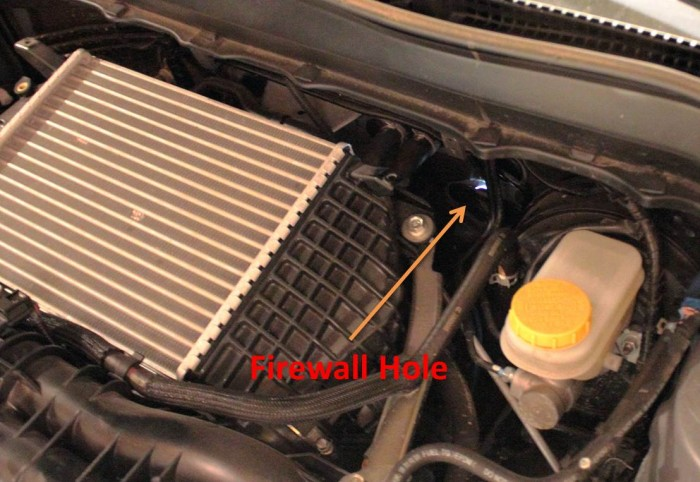 2014 Forester XT Firewall Access Hole on the engine side