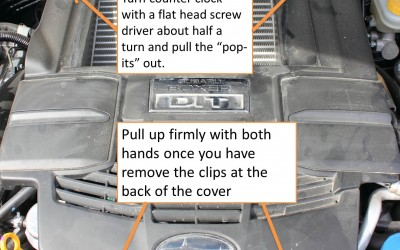 How to remove the engine cover on a 2014 forester