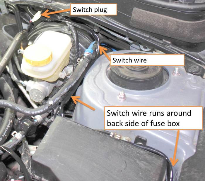 Switch Wire Path through firewall 2014 Forester